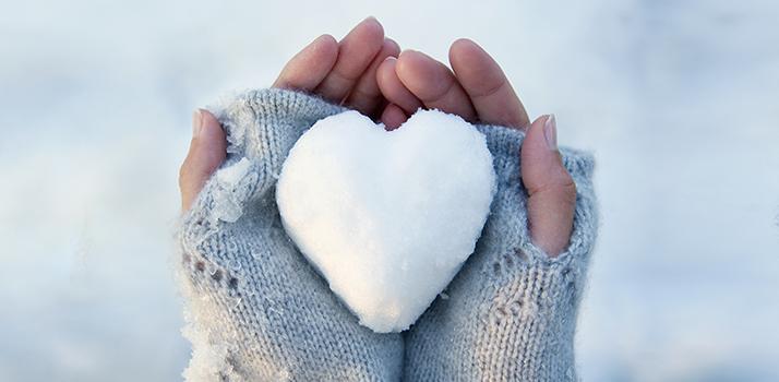 hands, snow,
