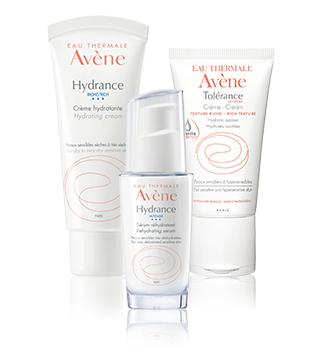Hydration of sensitive and hypersensitive skin Avène